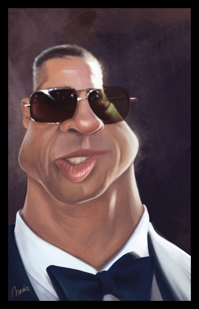 Brad Pitt Celebrity Caricatures Funny