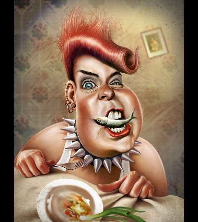 Ridiculous anger Celebrity Caricatures Funny
