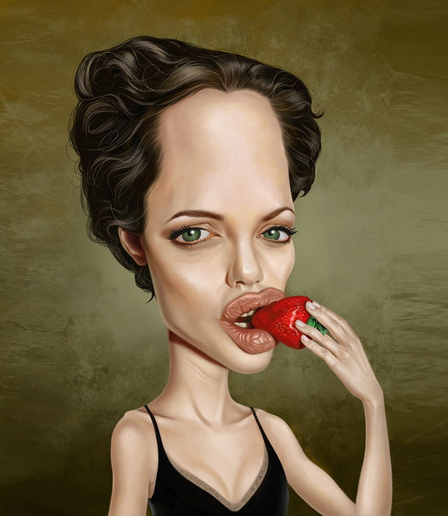 Angelina Celebrity Caricatures Funny