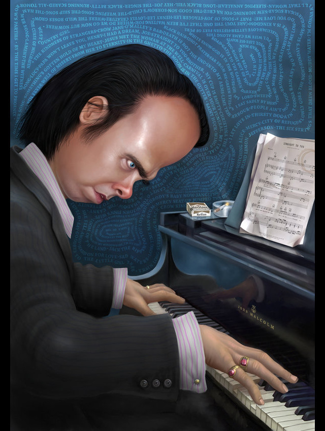 Nick Cave Celebrity Caricatures Funny