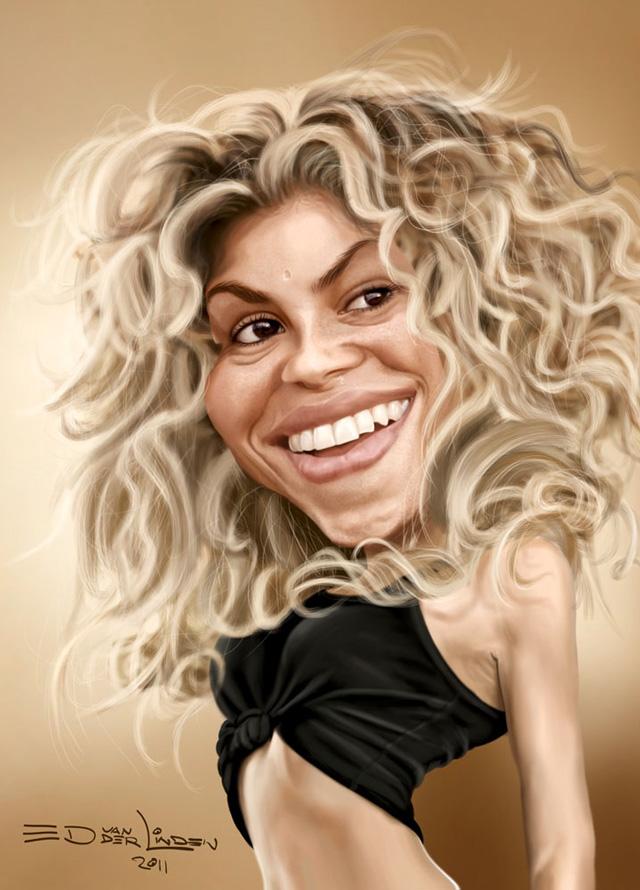 Shakira Celebrity Caricatures Funny