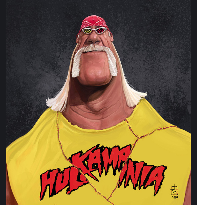 Hulk Hogan Celebrity Caricatures Funny