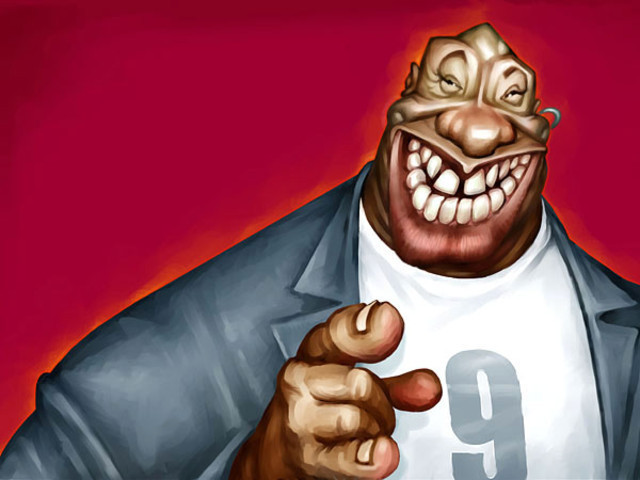 Michael Clurke DUNCAN Celebrity Caricatures Funny