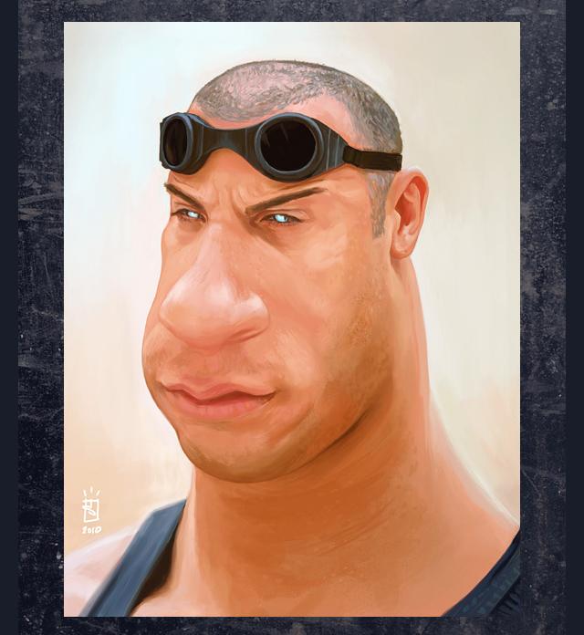 Vin Diesel Celebrity Caricatures Funny
