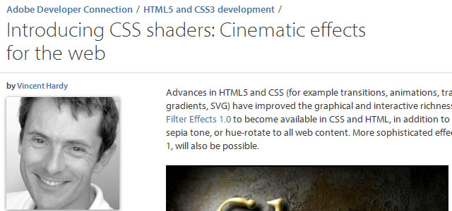 CSS Shaders: Cinematic Effects for the Web