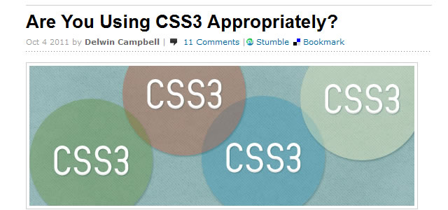 Are You Using CSS3 Appropriately?