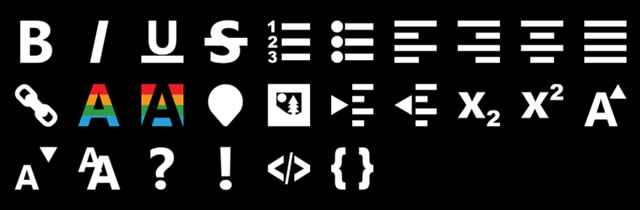 Metro RTE (Rich Text Editor) Icons