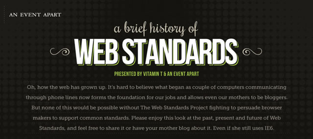 A Brief History of Web Standards