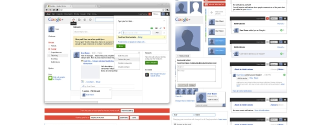 Free Full Layered Google+ GUI Kit