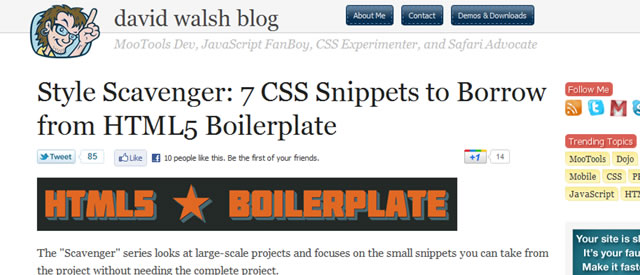 7 CSS Snippets to Borrow from HTML5 Boilerplate