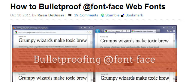 How to Bulletproof @font-face Web Fonts