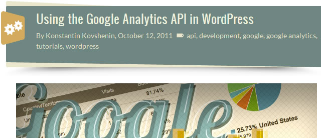 Using the Google Analytics API in WordPress