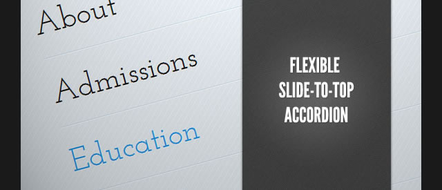 Flexible Slide-to-top Accordion (Tutorial)