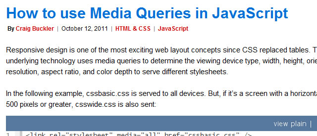 How to use Media Queries in JavaScript (Tutorial)