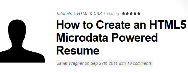 How to Create an HTML5 Microdata Powered Resume (Tutorial)