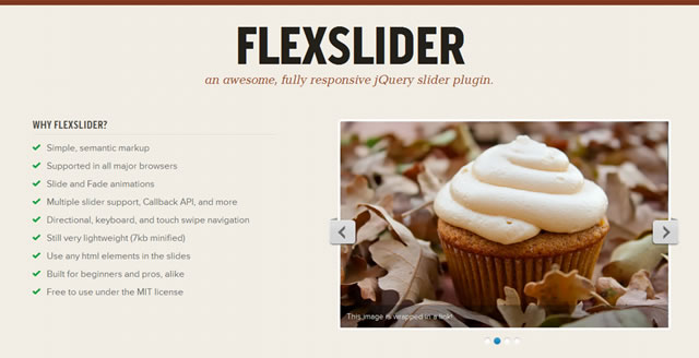 FlexSlider a lightweight, fully responsive jQuery slider plugin.