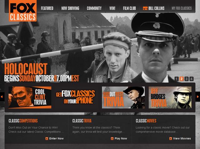 Fox Classics hero image slider