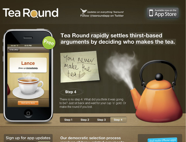 Tea Round App hero image slider