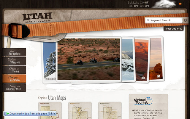 Utah travel hero image slider
