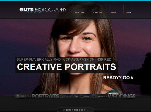 Glitz Photography hero image slider
