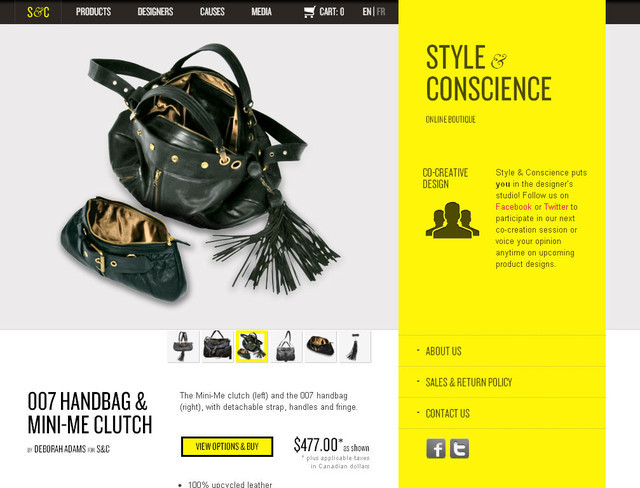 Style and Conscience hero image slider