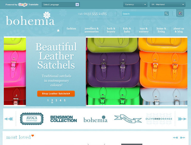 Bohemia Design hero image slider
