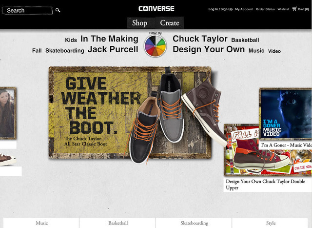 Converse hero image slider