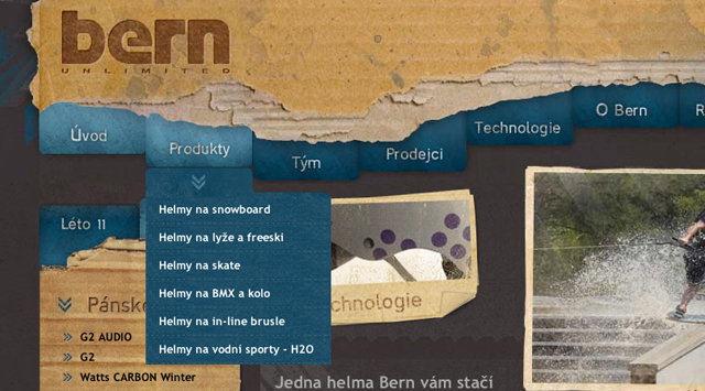 Helmy Bern website layout