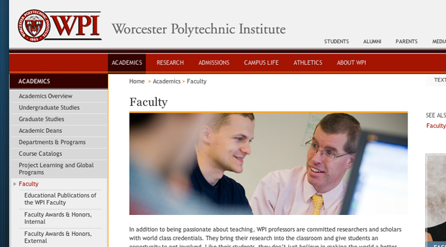 WPI College official site