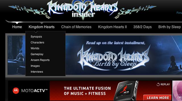 KHInsider home page navigation menu