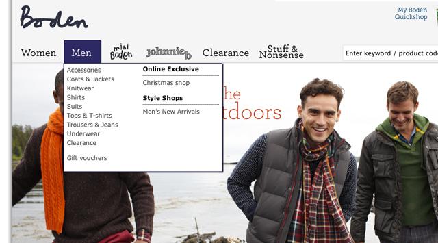 Boden web style shop