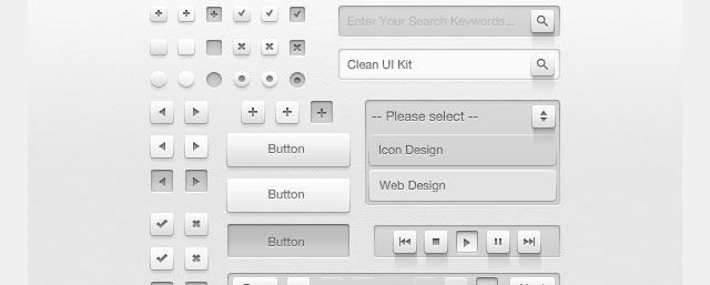 Clean UI Kit (PSD)