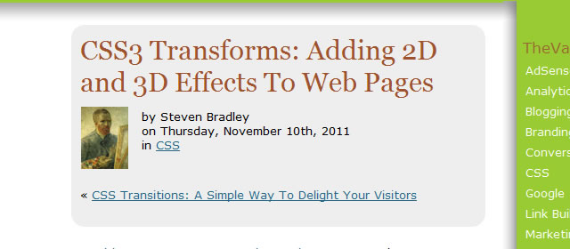 CSS3 Transforms: Adding 2D and 3D Effects To Web Pages