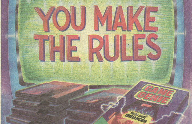Game Genie ad from 1992