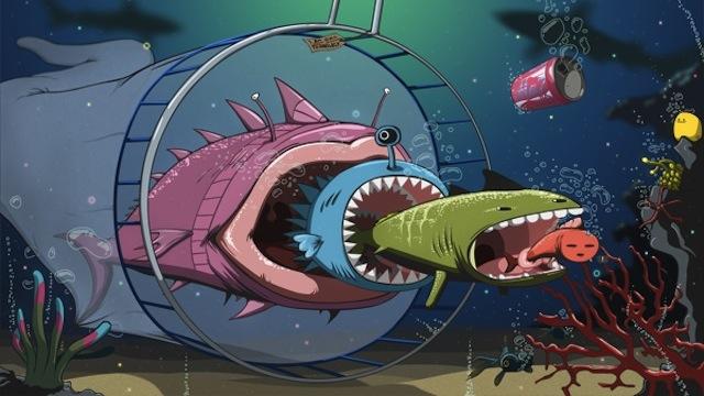 Creatin Underwater Vector Style Illustration in Adobe Photoshop