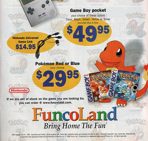 FuncoLand Trading Pokemon Gameboy Ad