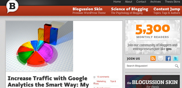 thesis theme blogussion Before getting more serious into selling themes online, the first product he sold  was a thesis premium skin used in blogussioncom (before he.