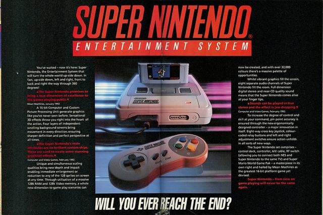 Super Nintendo Ad Spread