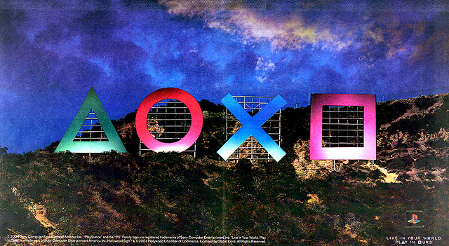 Playstation advertisement - Hollywood sign Los Angeles