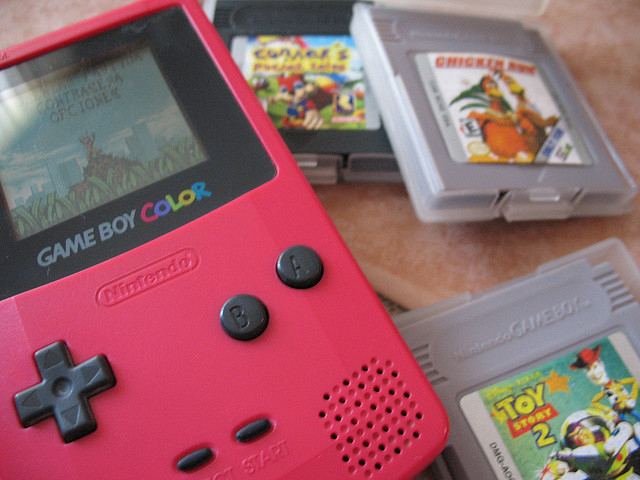 pink Gameboy Color model release