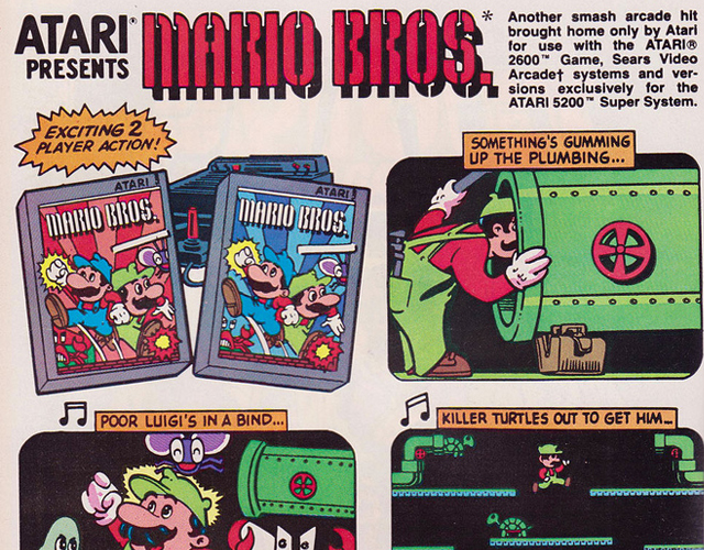 Mario Brothers for Atari 2600 original release