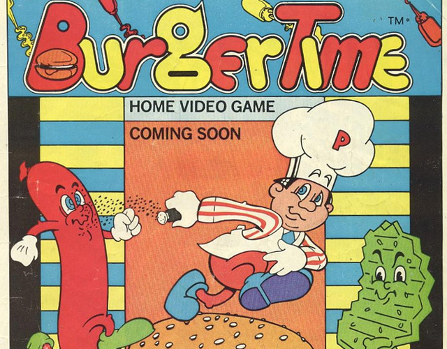 Burger Time video game on Atari