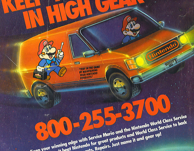old Nintendo ad for system maintenance