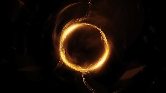 Abstract Golden Circle with Smoke Brushset