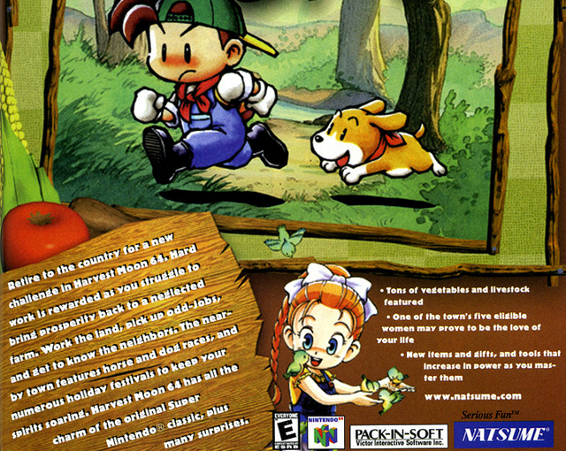 Nintendo 64 - Magazine spread for Harvest Moon