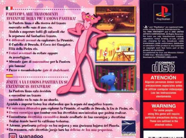 Pink Panther French PS1 Title