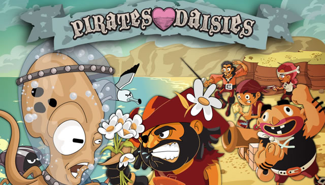 Canvas Demo Pirates Love Daisies html5
