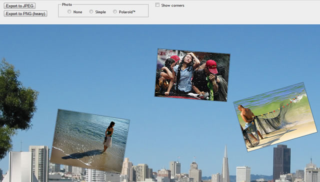 Canvas Demo - Surface Photo Gallery html5