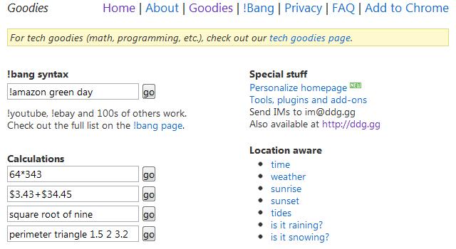 DuckDuckGo Goodies Search Guide Online