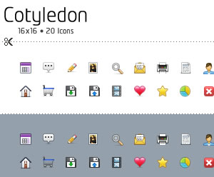 Cotyledon Mini Icons
